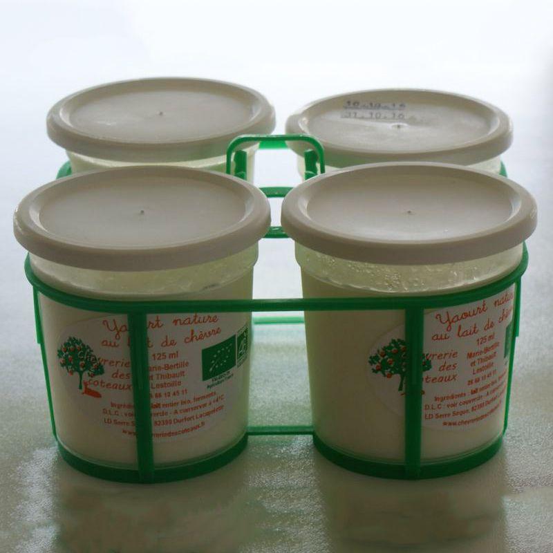 Yaourts au lait de chèvre de la Chèvrerie des coteaux